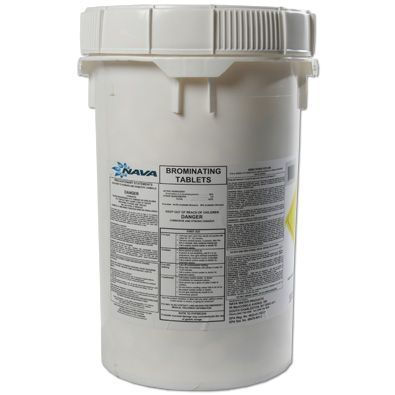 Bromine Tabs 50lb Pail Water Treatment Chemical Supplier Ice Melt Distributor Pool Chemical