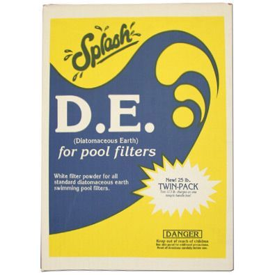 Diatomaceous earth 25lb box water treatment chemical - Diatomite filter media for swimming pools ...