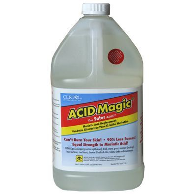 Acid Magic 4x1 Gallon Cases Water Treatment Chemical Supplier Ice Melt Distributor Pool