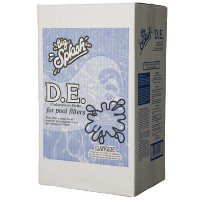 Diatomaceous earth 12lb box water treatment chemical - Diatomite filter media for swimming pools ...