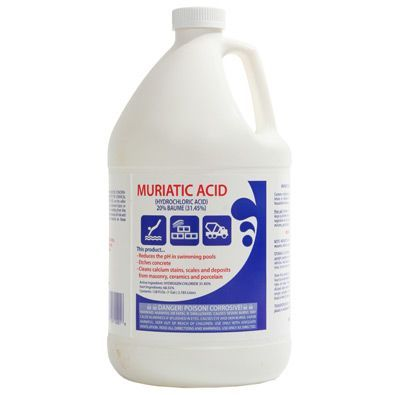 Hydrochloric Acid 4x1 Gallon Cases Water Treatment Chemical Supplier Ice Melt Distributor