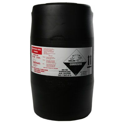 Hydrochloric Acid 15 Gallon Deldrum Water Treatment Chemical Supplier Ice Melt Distributor