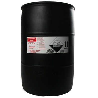 Hydrochloric Acid 55 Gallon Drum Water Treatment Chemical Supplier Ice Melt Distributor Pool
