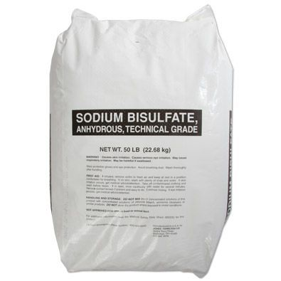 Sodium bisulfate 50lb bag water treatment chemical for Bisulfite de sodium piscine