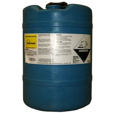 Sodium Hydroxide 50 15 Gallon Deldrum Water Treatment Chemical Supplier Ice Melt Distributor