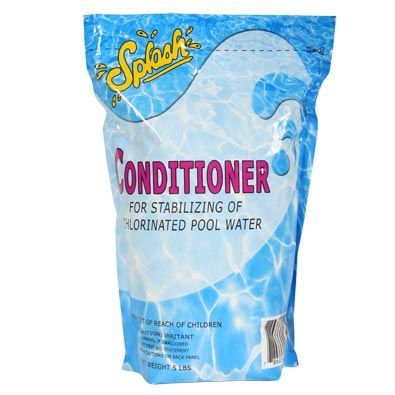 Splash Conditioner Cyanuric Acid 5 Pound Pouch Water Treatment Chemical Supplier Ice Melt